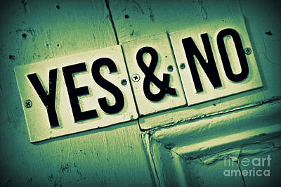 Yes And No 2 Art Print by Perry Webster