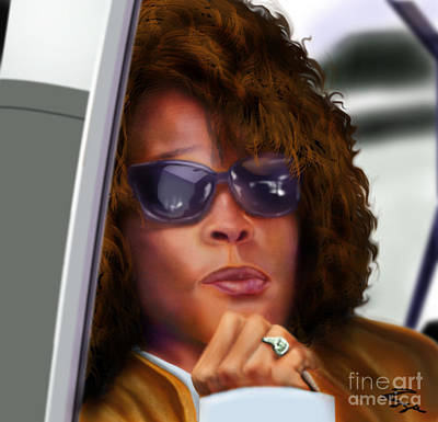 Yes My Name Is Ms Houston Art Print by Reggie Duffie