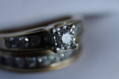 Gemstone Engagement Ring Photograph - Yes by Theresa Johnson