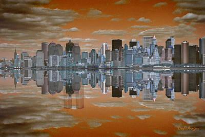 September 11 Wtc Digital Art - Yesterday Reflexions by Coqle Aragrev