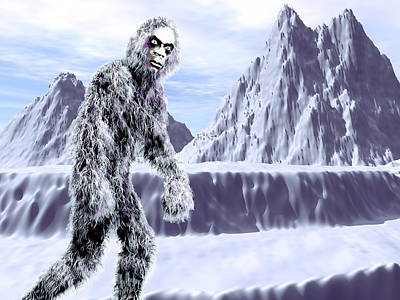 Abominable Snowman Photograph - Yeti by Christian Darkin