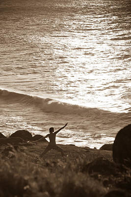 Photograph - Yoga At Kalalau by Lannie Boesiger