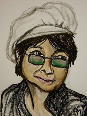 John Lennon Portrait Drawing - Yoko by Pete Maier