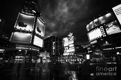 Yonge-dundas Square And The Eaton Centre At Night Toronto Ontario Canada Art Print by Joe Fox