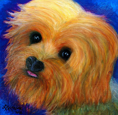 Painting - Yorkie by Laura  Grisham