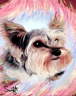 Dog Painting - Yorkshire Terrier by Char Swift