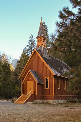 Photograph - Yosemite Chapel And Half Dome by Heidi Smith