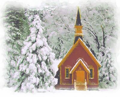 Photograph - Yosemite Chapel In Winter by Heidi Smith