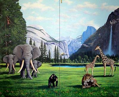 Chimpanzee Painting - Yosemite Dreams by Frank Wilson