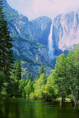 Photograph - Yosemite Falls And Merced River by Eric Tressler