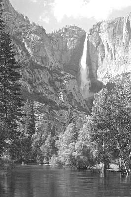 Photograph - Yosemite Falls Over The Merced by Eric Tressler