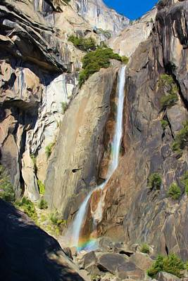 Photograph - Yosemite Falls Rainbow by Heidi Smith