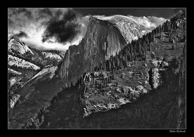 Photograph - Yosemite Hafe Dome Dark Cloud by Blake Richards
