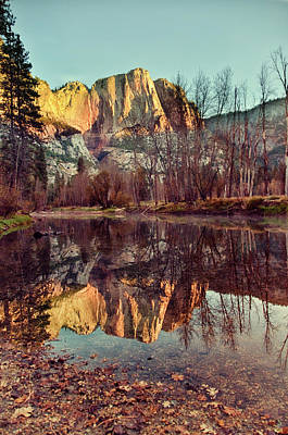 Bare Trees Photograph - Yosemite Reflection by Irene Y.