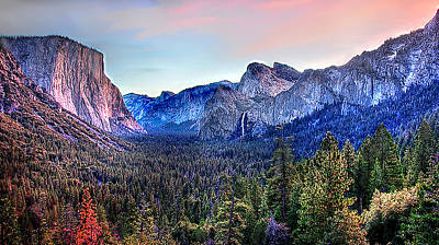 Digital Art - Yosemite Valley From Tunnel by Bob and Nadine Johnston