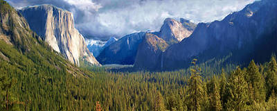 Digital Art - Yosemite Valley From Tunnel View by Jim Pavelle