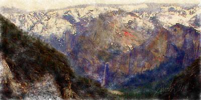 Digital Art - Yosemite Valley Impressionism by Jim Pavelle