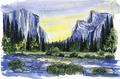 Yosemite Painting - Yosemite Valley  Morning by Mark Jennings