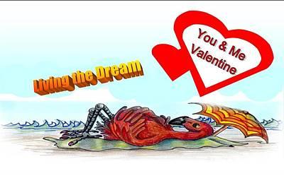 You And Me Valentine Art Print by Carol Allen Anfinsen