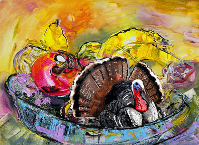 Turkey Mixed Media - You Are My Dish Of The Day by Miki De Goodaboom