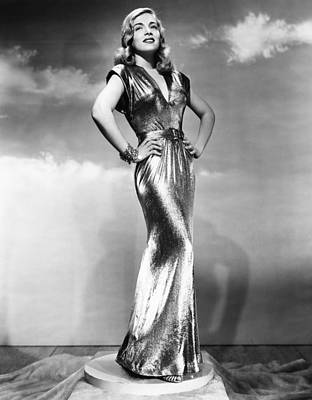 Gold Lame Photograph - You Came Along, Lizabeth Scott, 1945 by Everett