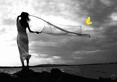 Butterflies Digital Art - You Cannot Catch The Free Ones by Gun Legler