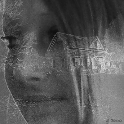 Digital Haunted House Photograph - You Cant Go Home Again by Leslie Revels Andrews
