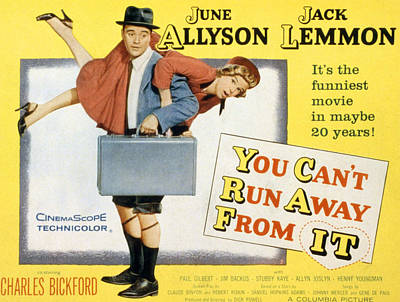 You Cant Run Away From It, Jack Lemmon Art Print by Everett