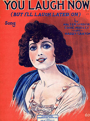 Old Sheet Music Photograph - You Laugh Now by Mel Thompson
