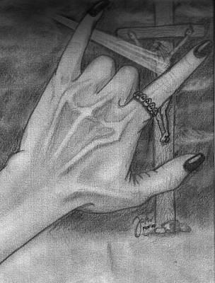 Pencil Sketch Drawing - You Rock by Cheppy Japz