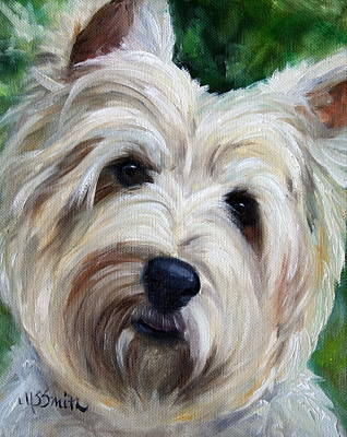 Terrier Painting - You Talking To Me by Mary Sparrow