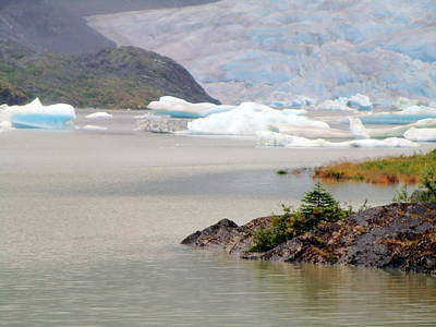 You Won't Believe Mendenhall Glacier Print by Mindy Newman