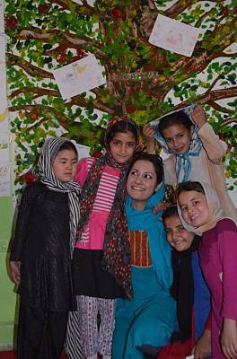 Photograph - Young Afghan Artistas - Kabul Afghanistan by Fareeha Khawaja