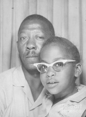 Photograph - Young Angela With Her Dad by Angela L Walker