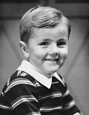 Young Boy Smiling Art Print by George Marks