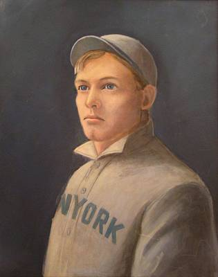Painting - Young Christy Mathewson by Mark Haley