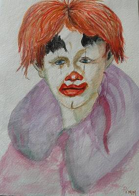 Painting - Young Clown by Betty Pimm