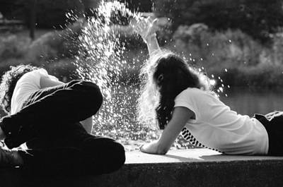 Photograph - Young Couple At The Lake by Emanuel Tanjala