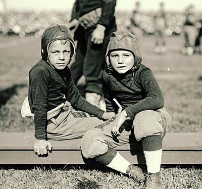Young Football Fans 1920 Art Print