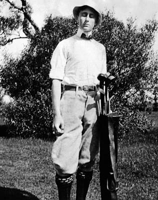 Youth Sports Photograph - Young Franklin Roosevelt At On A Golf by Everett