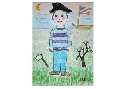 General Washington Mixed Media - Young George Washington by Ward Smith