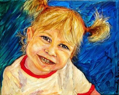 Young Girl 2 Art Print by Amanda Dinan