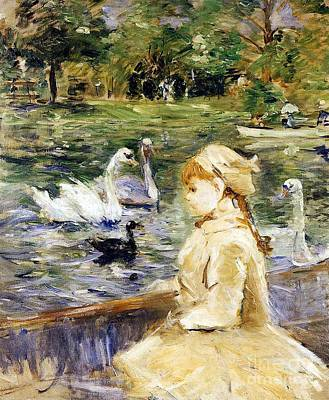 Small Boat Painting - Young Girl Boating by Berthe Morisot