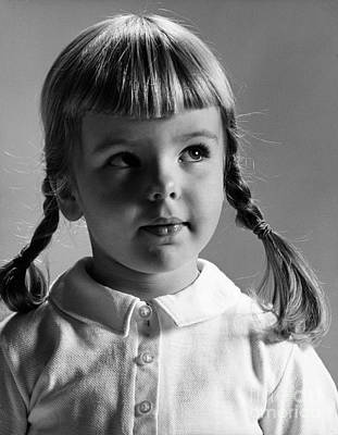 Six-year-old Girl Photograph - Young Girl by Hans Namuth and Photo Researchers