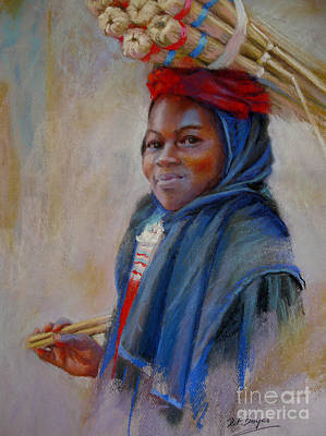 Souq Painting - Young Girl In Souq by Dorothy Boyer