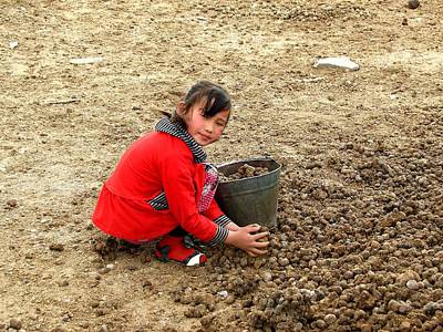 Photograph - Young Girl In The Gobi Desert by Diane Height
