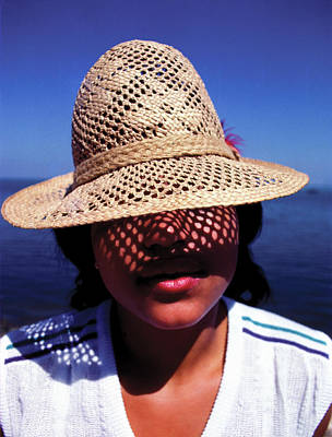 Photograph - Young Lady With Straw Hat by Johnny Sandaire
