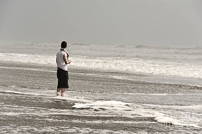 Young Man And The Pacific Ocean Print by Yurix Sardinelly