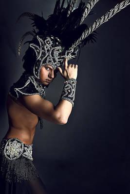 Young Man In Ritual Suit Of Pagan Priest. Original by Kireev Art