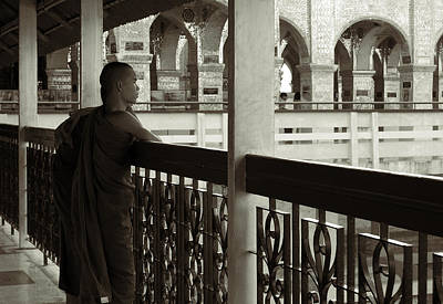 Young Monks In Mandalay Hill Art Print by RicardMN Photography
